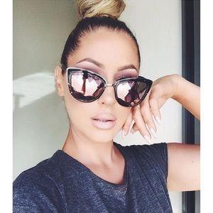Quay Tortoise Pink Mirrored Sunglasses